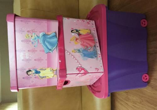 2be96e907a Komplet skrzyń na zabawki pokój dziewczynki